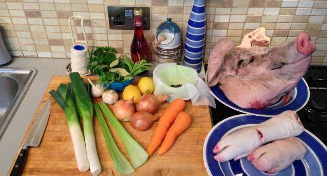 как приготовить зельц-подготовить продукты
