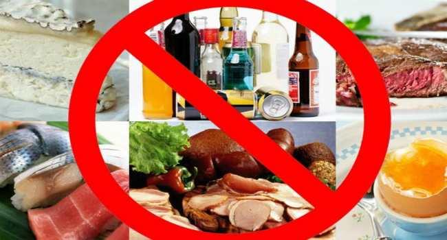 запрещенные продукты при беременности-что нельзя есть